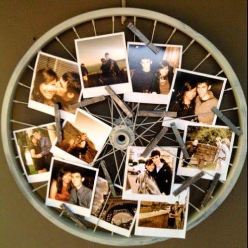porta retratos roda bicicleta