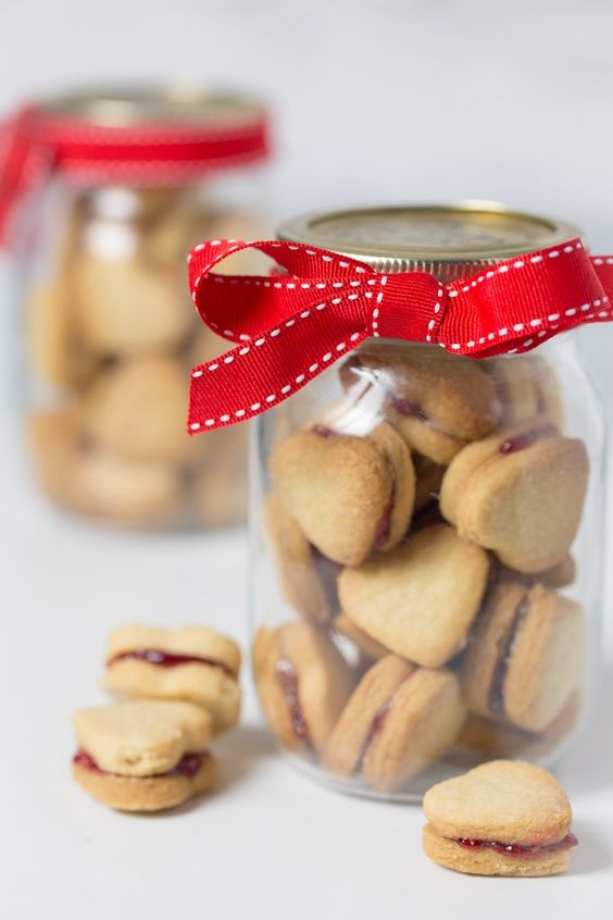 pote vidro dia namorados presente biscoito