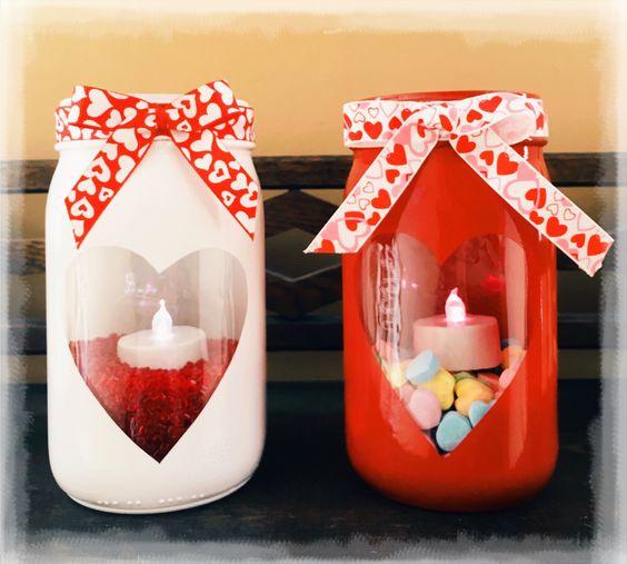 pote vidro dia namorados presente velas