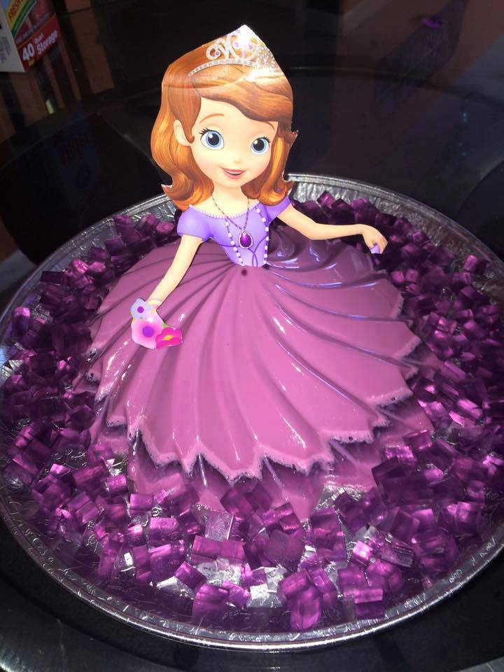 princesa sofia em gelatina