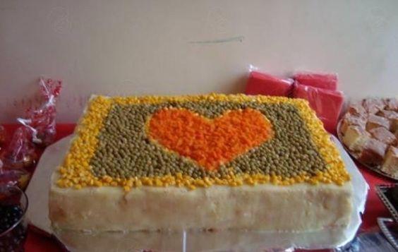 Enfeite De Torta ~ Receita de Bolo Salgado com P u00e3o de Forma