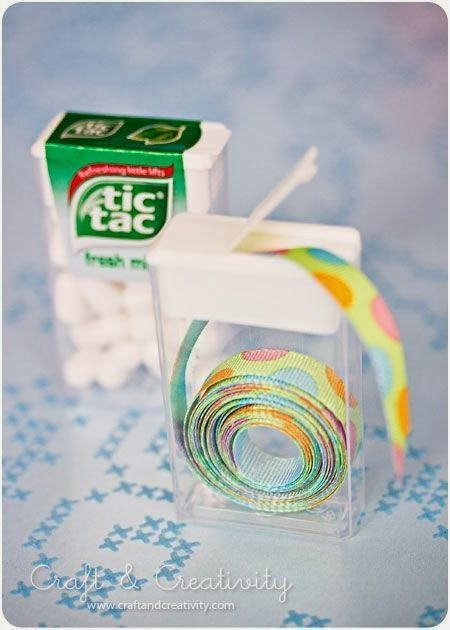 reciclar caixa tic tac fitas