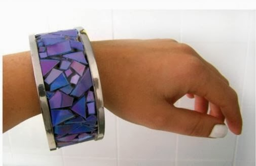 reciclar cds bracelete