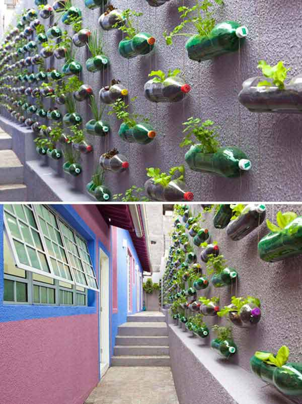 reciclar garrafas jardim vertical