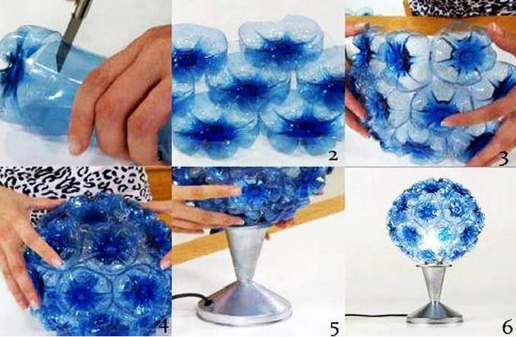 reciclar garrfas de plastico candeeiro