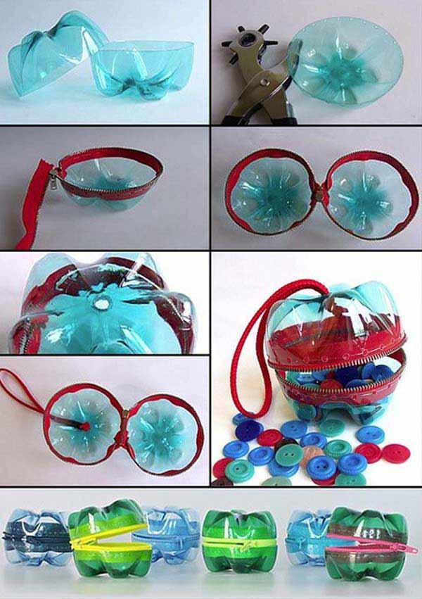reciclar garrfas pet bolsa
