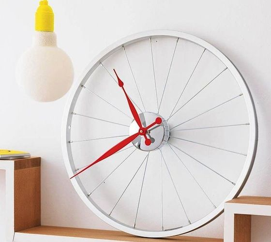 relogio feito com roda bicicleta