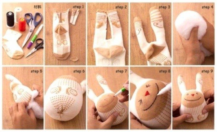 reutilizar meias sem par peluche