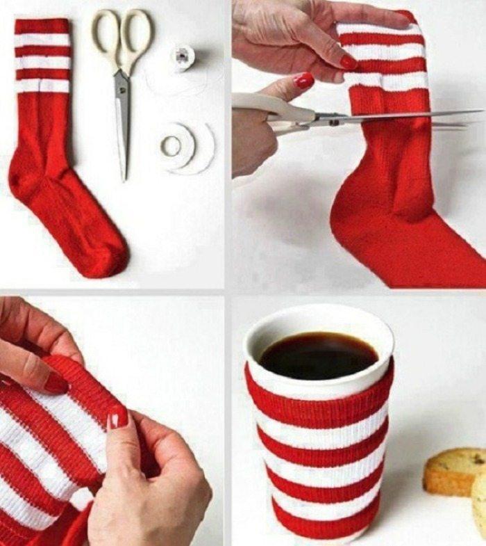 reutilizar meias sem par proteger quente frio