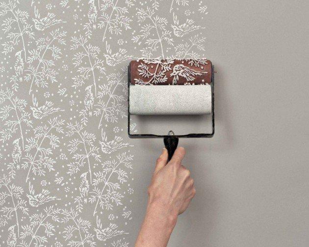 rolo de pintar paredes com flores