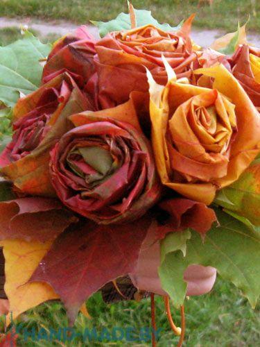 rosas de folhas