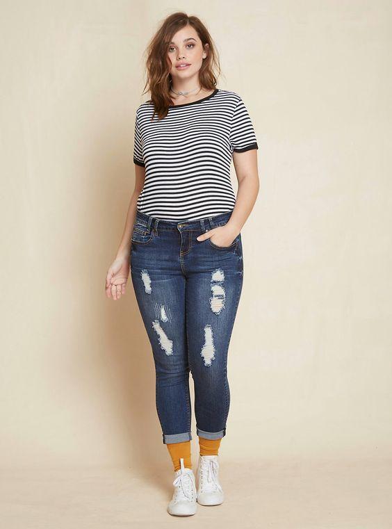 roupa emagrece jeans molde
