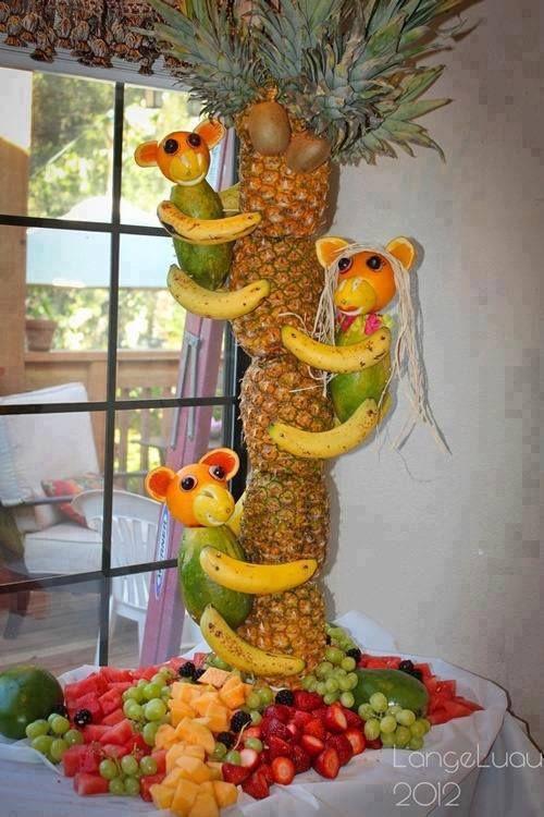 servir fruta em festas