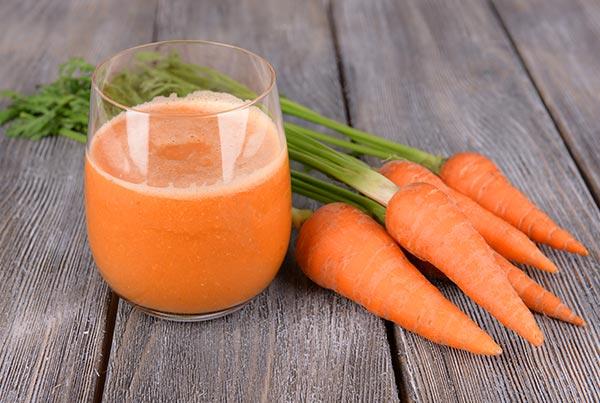 suco de cenoura e limao