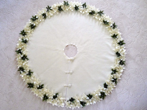 tapete saia arvore natal flores