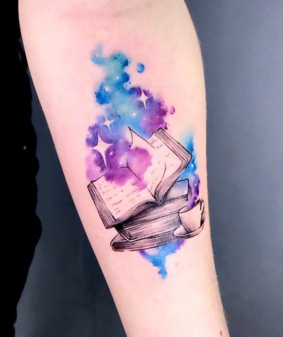 tatuagem aquarela livro 1
