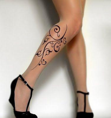 tatuagem feminina tribal delicada