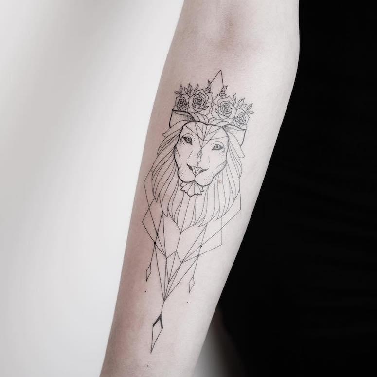 tatuagem signo leao