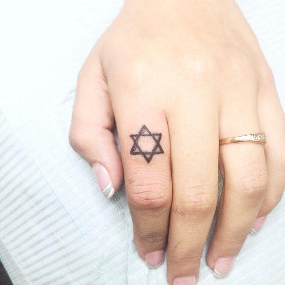 tatuagens de estrela davi 2