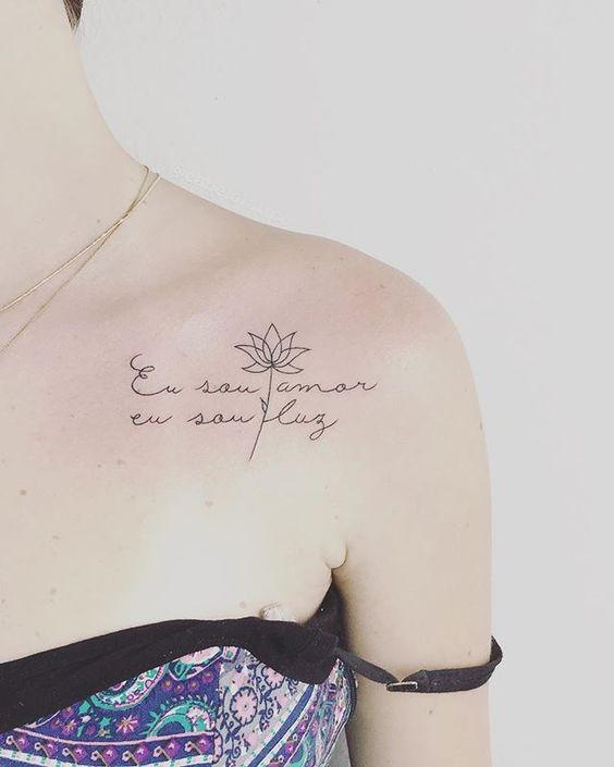 tatuagens escritas ombro 1