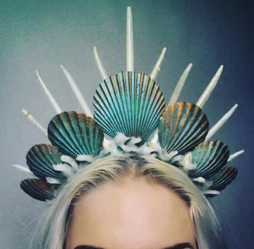 tiara concha diy