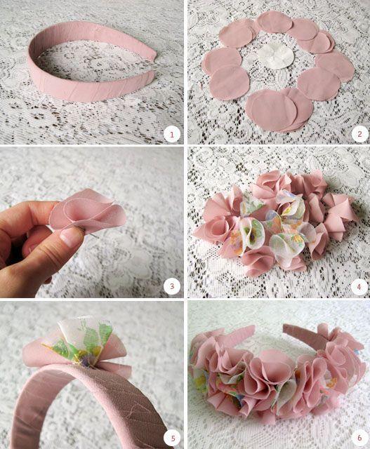 tiara flor tecido 1