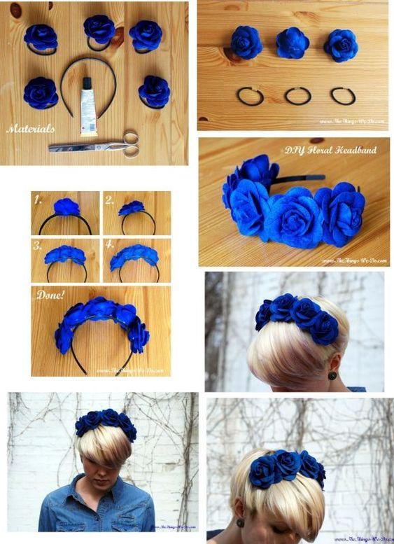tiara flor tecido 2