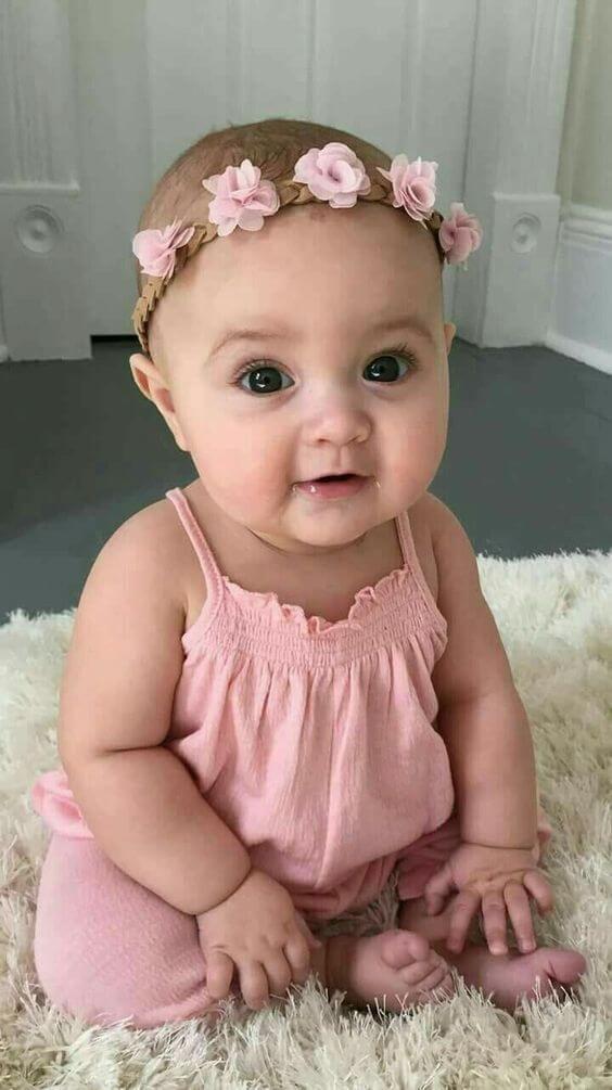 tiara flor tecido bebe 2