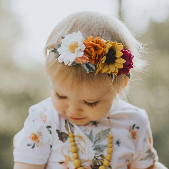 tiara flor tecido bebe 3