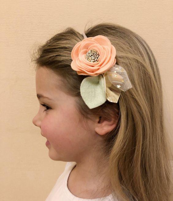 tiara flor tecido daminha 1