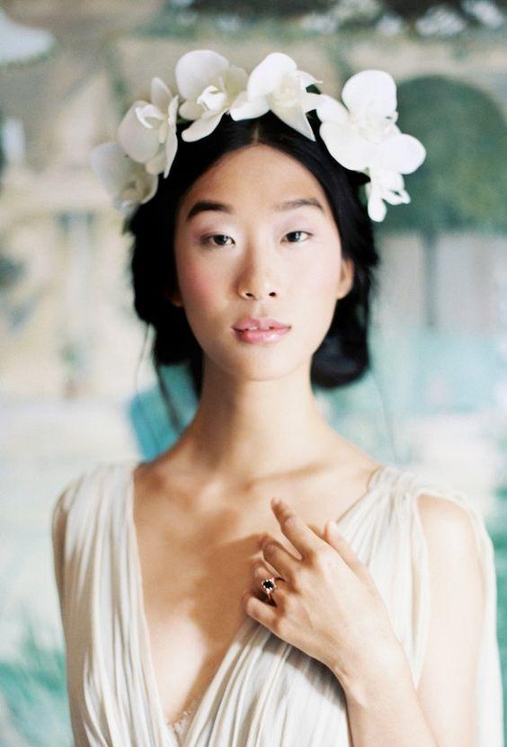 tiara flor tecido noiva 1