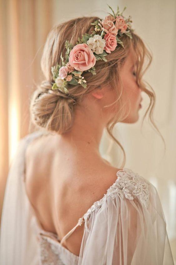 tiara flor tecido noiva 2