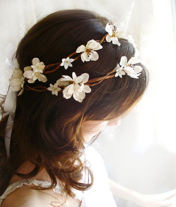 tiara flor tecido noiva 3