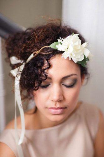 tiara flor tecido noiva