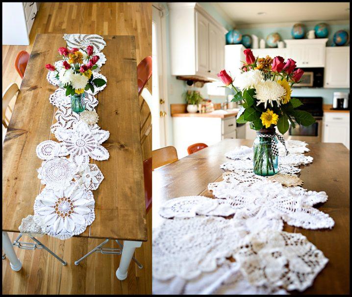toalinha croche reutilizar mesa