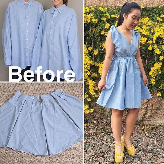 transformar camisas homem roupa feminina 2