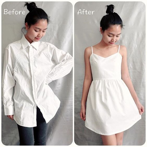 transformar camisas homem roupa feminina 3