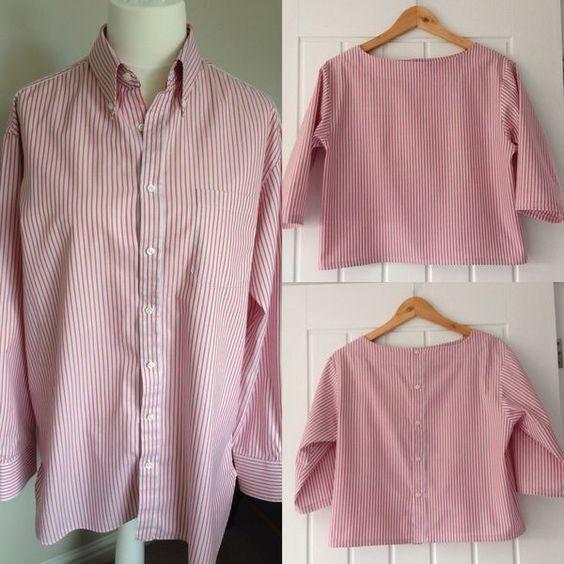 transformar camisas homem roupa feminina