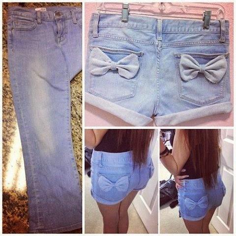 transformar jeans em shorts