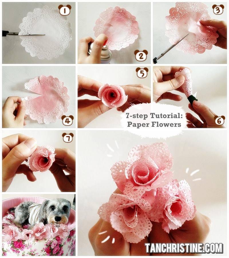 tutoriais de flores de papel