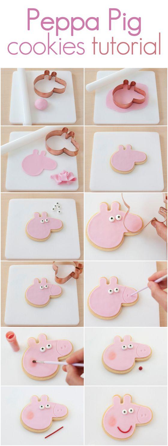 tutorial biscoitos peppa pig
