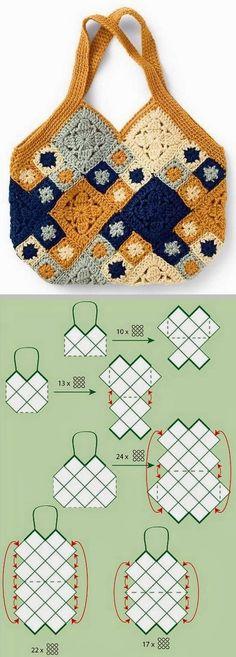tutorial bolsa croche 1