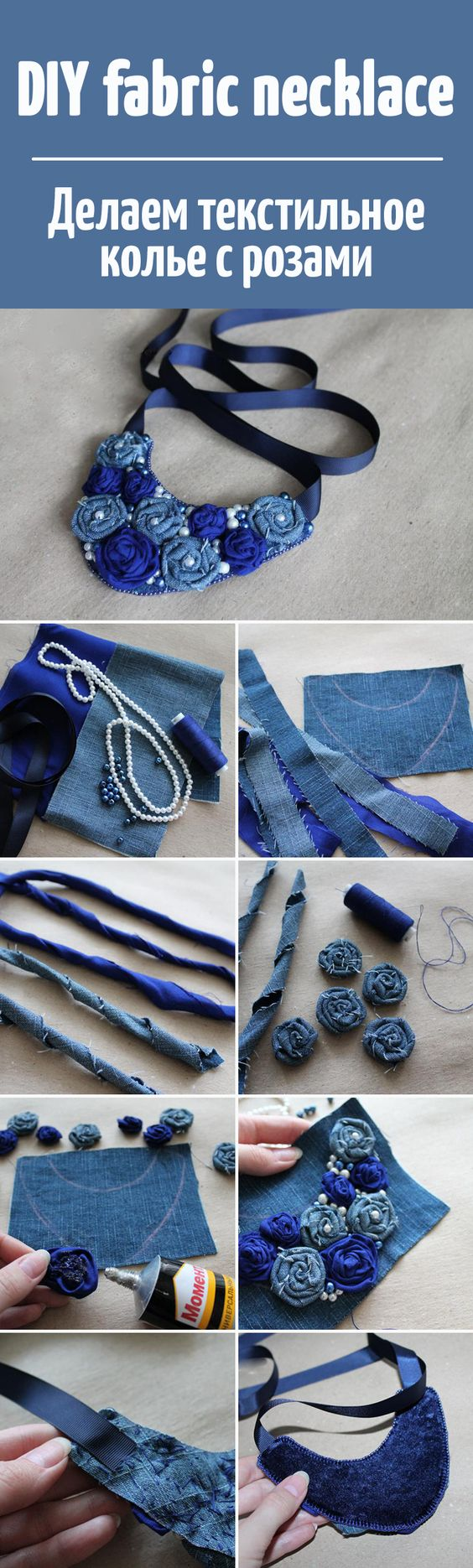 tutorial colar jeans