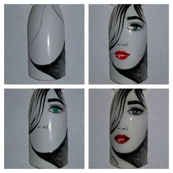 tutorial desenho unhas rosto