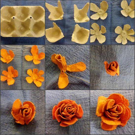 tutorial diy flor caixa ovo 1