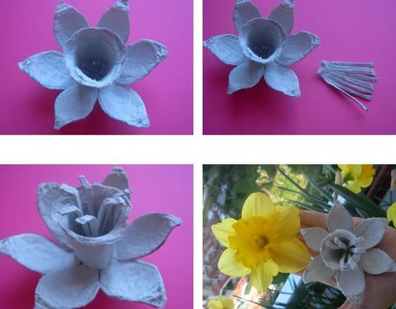 tutorial diy flor caixa ovo 3