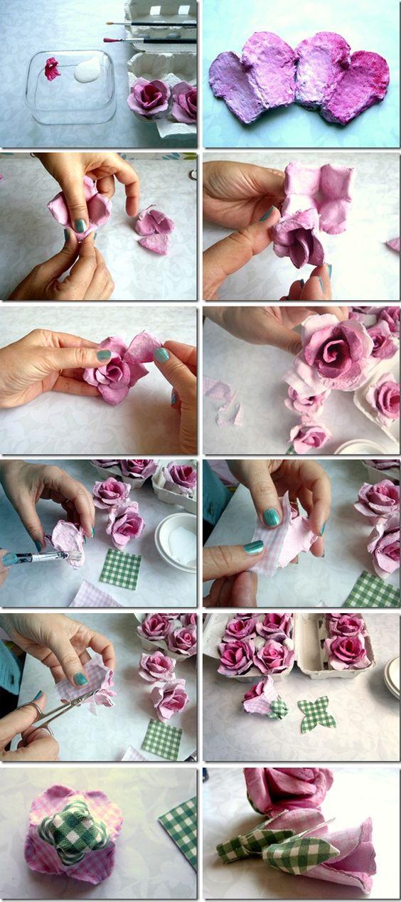tutorial diy flor caixa ovo 6