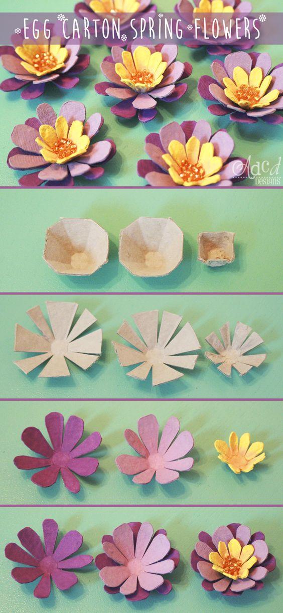 tutorial diy flor caixa ovo 7