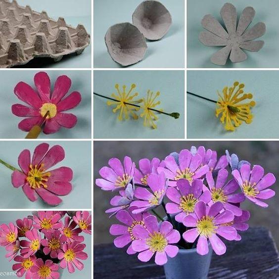 tutorial diy flor caixa ovo 8