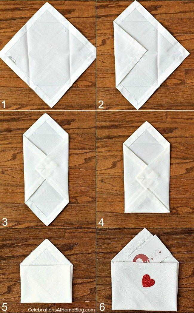 tutorial dobrar guardanapos dia dos namorados